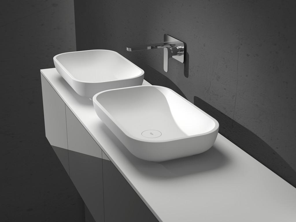 Lavabo loop sobre encimera panelpiedramadrid for Compra de lavabos