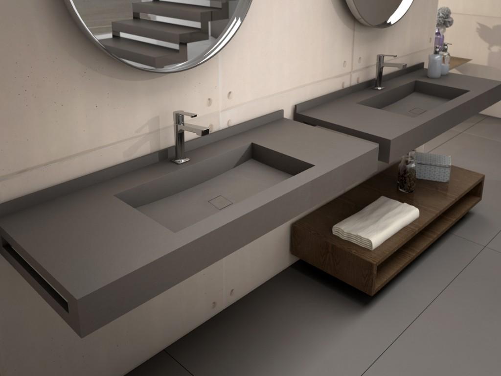 Lavabos inegrados unique4 panelpiedramadrid - Encimeras de lavabo de resina ...
